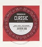 D'Addario J2705 - Cuerda individual de nailon para guitarra clásica, nivel principiante, tensión normal, quinta cuerda, plateado