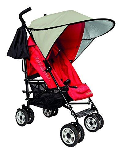 Sunnybaby 11140 Sonnendach für Sportwagen, Buggys und Kinderwagen, Flexi-XXL, natur