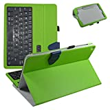 Asus ZenPad Z10 Wireless Keyboard Case,Mama Mouth Slim Stand PU Leather Case Cover with Romovable Wireless Keyboard for 9.7' ASUS Zenpad Z10 ZT500KL Verizon 4G Let Android 6.0 Tablet,Green