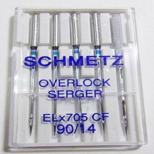 Buy Schmetz Elna Serger Chrome sz90 5-pack - ELX705CF90
