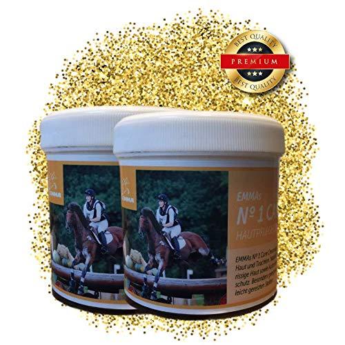 EMMA® Zinksalbe Pferd Hund Tier Katze I Zinkpaste I Hautpflege bei Hautproblemen Hautreizung Juckreiz Ekzem bei Mauke I Wundsalbe Wundversorgung I Wund Heilsalbe I Maukesalbe 2 * 250 ml