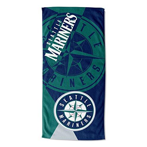 Seattle Mariners MLB Royal Plush Raschel Blanket (Big Stitching Series) (60x80 )
