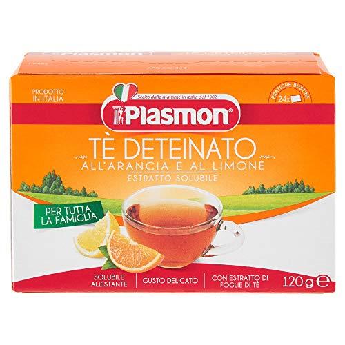 Plasmon Tè Deteinato all'Arancia e al Limone, 12 confezioni di 24 x 5 g