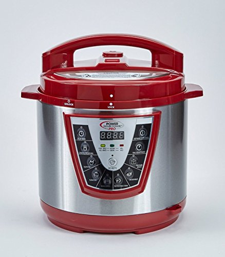 PPC Power Pressure Cooker Pro, X-Large, Red