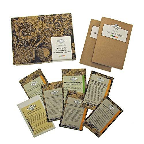 Romantischer Blumengarten - Samen-Geschenkset mit 7 altmodischen & zarten Blumensorten für einen wunderschönen verspielten Garten