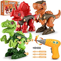 4. Fundia Take Apart Dinosaur Toys with Electric Drill