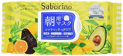 BCL Japan Saborino Morning Care 3-in-1 Face Mask (32 sheets/304ml) Jumbo Pack