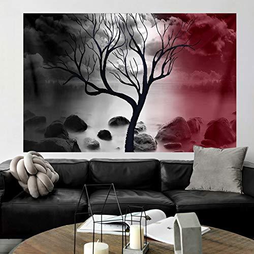 Native Purity - Tapiz de árbol de la vida para colgar en la pared, tapiz de cama, boho, boho, naturaleza, paisaje, manta de playa para dormitorio, sala de estar, dormitorio, 59 x 51 pulgadas