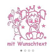 Hoffis Premium Babyaufkleber Mit Name Wunschtext Baby Kinder Autoaufkleber Motiv 1307 16 Cm Farbe Und Schriftart Wählbar Baby