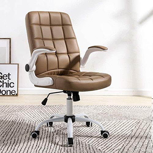 FACAIA Sillas Oficina, Sillón Giratorio Computadora Elevación del hogar Personal de conferencias Silla arrodillada (Color: Marrón)