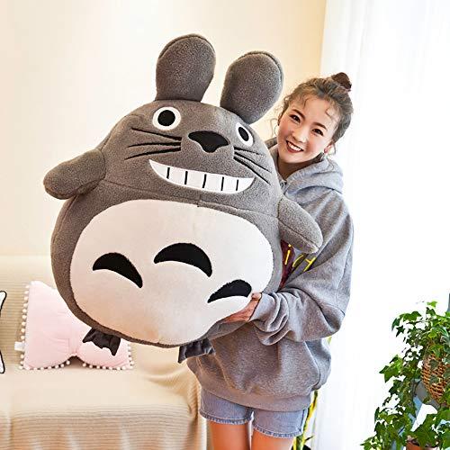 Leuke Totoro Pluche Japanse Anime Miyazaki Hayao Mijn Neighbor Totoro Knuffels Pop voor Kinderen Kinderen Kerstcadeau,35cm
