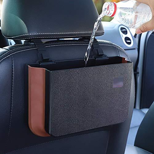 PZOZ Auto Mülleimer, Auto Zubehör, KFZ Abfalleimer Wasserdicht Abfallbehälter Auslaufsicher Autositztasche für Müll, 2.6 Litern Kapazität Auto Gadget,Autozubehör Innenraum (schwarz)