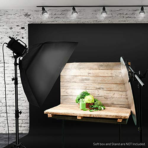 LimoStudio 10' x 20' Photo Video Studio Seamless Solid Black Muslin Backdrop Photo Studio Background, AGG1601