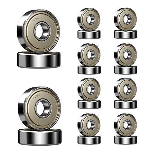 Ruesious 20 x Cuscinetti a Sfere in Miniatura 608zz Roller Rolling Skate 8 * 22 * 7mm per Stampante 3D
