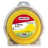 Oregon 69-370-Y Hilo redondo amarillo para cortadoras de césped y desbrozadoras de 3,0 mm x 56 m, 3.0mm x 56m
