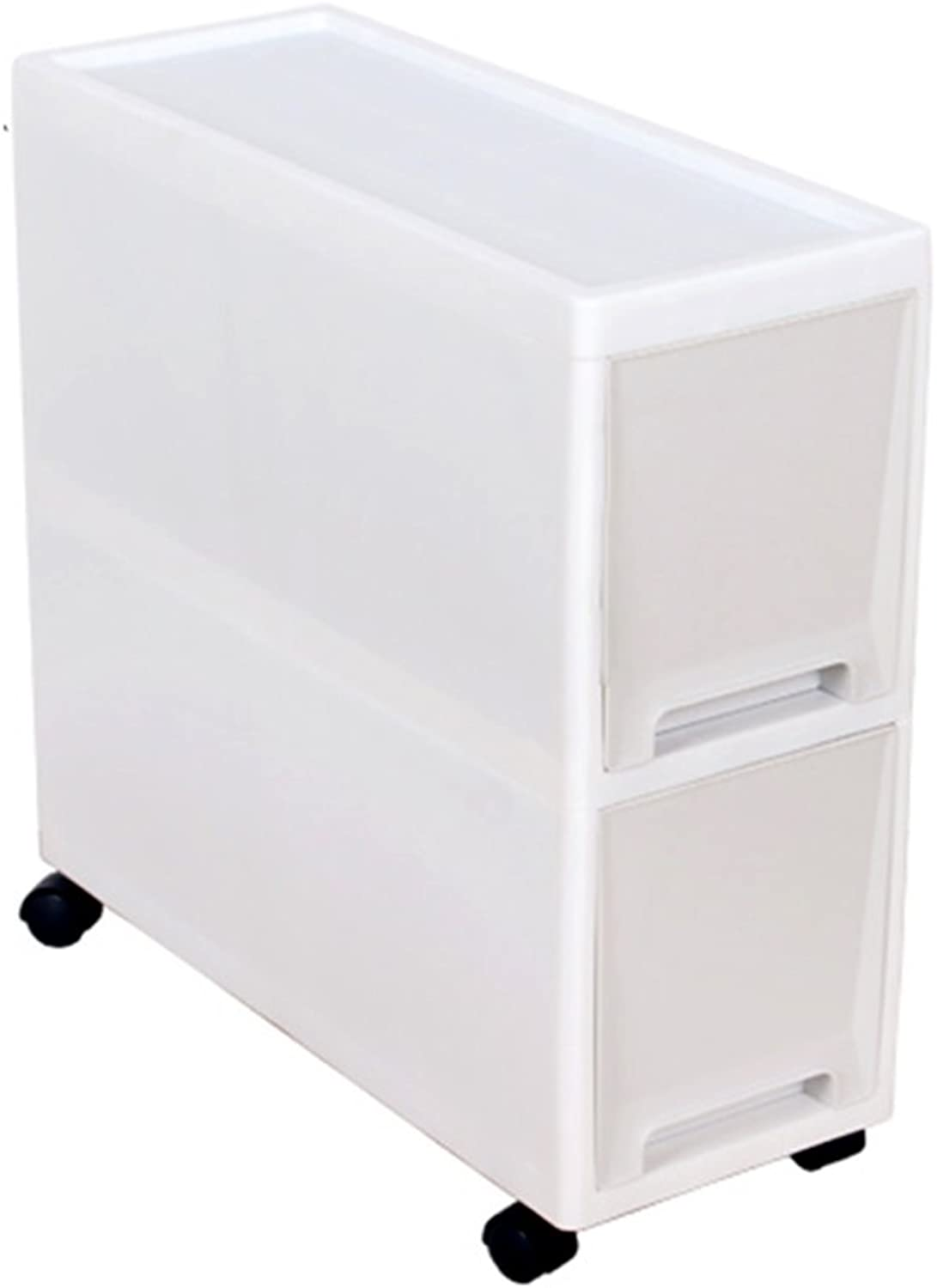 Storage cabinets Clamping Racks Bedroom Cabinets Plastic Toilets Removable Storage Box Home Kitchen Slots Storage cabinets (color   White, Size   45  44.5cm)