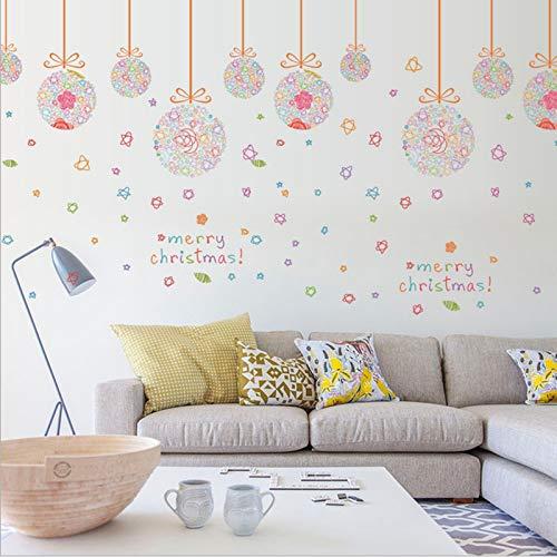 ZYUN 2021 Nouvelles Vacances 2 Pcs Install Sticker Mural Autocollant Joyeux Noël Amovible S'habiller Stickers Muraux Bricolage Pour Le Salon