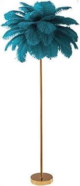 """LED Creative Feather Lampadaire, avec Electroplated Fer base Lampadaire en métal, for Bureau Salon Chambre 17"""" x 45,2&#34"""