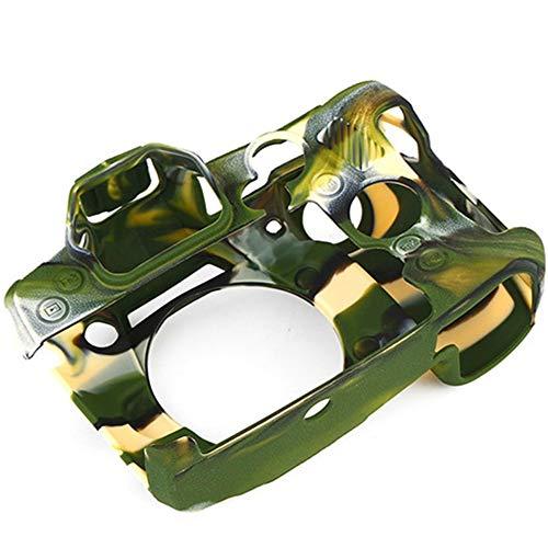 Fealay A Prueba de Polvo de Silicona Cubierta Protectora Adecuada for Lumix G9, maletín Profesional Suave Cuerpo de la cámara de la Piel Antideslizante (Color : Camouflage)