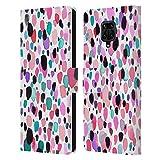 Head Case Designs sous Licence Officielle Ninola Bleu Rose léger Aquarelle 3 Coque en Cuir à...