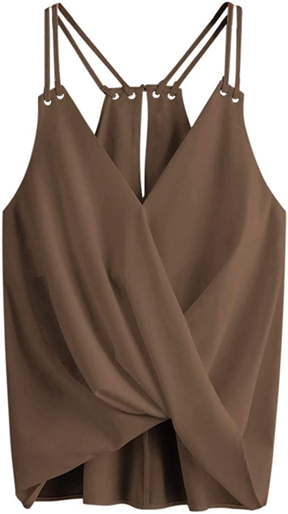 soyienma Cami Tank Tops for Women Summer, Casual Loose Blouse Sleeveless T-Shirt Workout Athletic Vest
