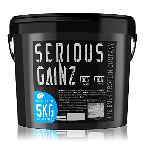 The Bulk Protein Company, Whey Isolate Powder Serious Gainz Weight Gain...