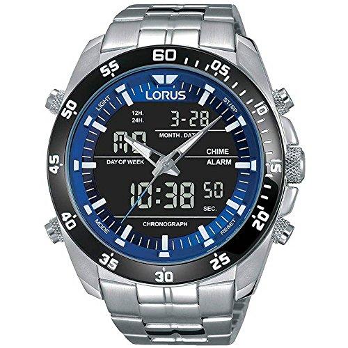 Lorus Herren Analog-Digital Quarz Uhr mit Edelstahl Armband RW629AX9