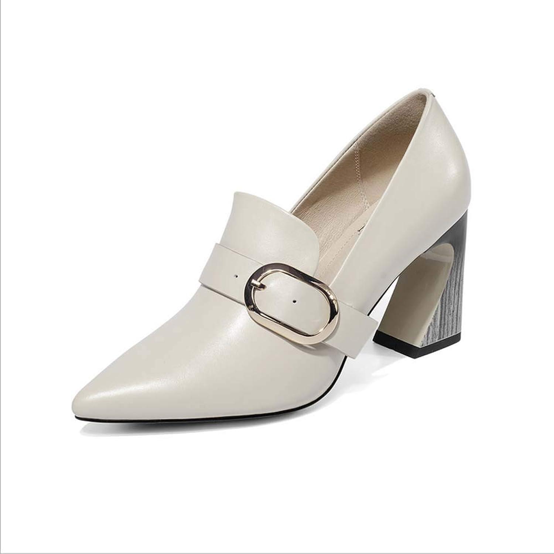 Womens Mid Block Heel Slip On Smart Office Ladies Patent Court shoes Full Belt Buckle Chunky Heel shoes