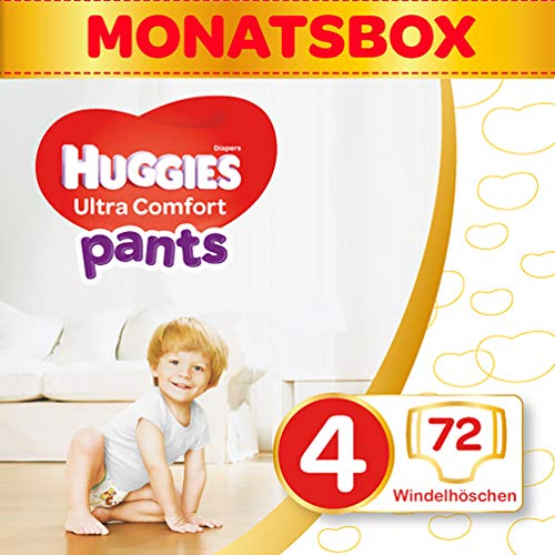 Huggies Windeln Ultra Comfort Pants Größe 4 Monatsbox, 1er Pack (1 x 72 Stück) 2 x 36 Stück