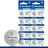 Westinghouse CR2032 Lithium Button Cell, Button Battery, Remote Battery, Remote Battery Cells (10 Counts)