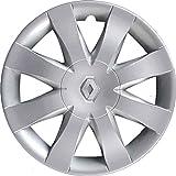 Lot de 4 enjoliveurs de roues 15' Clio à partir de 2008, non originaux