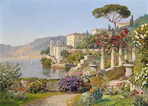Paraíso Mediterrâneo de Alois Arnegger - 75x104 - Tela Canvas Para Quadro