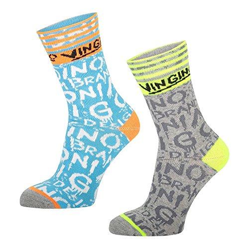 Vingino Vedro 2er-Pack - Socken, Größe_Socken:23-26, Farbe:light grey melee
