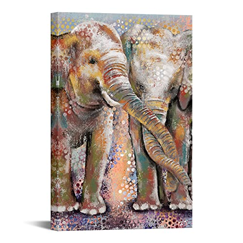 OuElegent Elephant Painting Canvas Wall Art Elephant...
