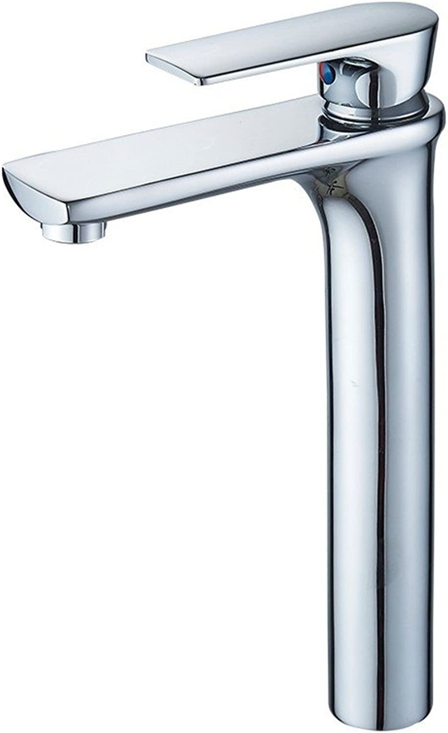 Copper Faucet All Copper Height Faucet hot and Cold wash Basin Faucet Above Counter Basin, MP9006
