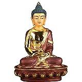 CJshop Figurine de Bouddha Feng Shui Statue de Bouddha Statue Zen, la méditation Assise Bouddha Figurine for l'extérieur ou à l'intérieur d'ornement décoratif Statue d'ornement de Bouddha