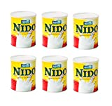 6er Pack, Nido Instant Vollmilchpulver, Instant Full Cream Powder, Nestle 6 x 400g, 2,4kg
