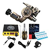 Dragonhawk Extreme X2 Rotary Tattoo Machine Brass Frame CNC Machine RCA Connected for Tattoo Artists (TZ099-1)