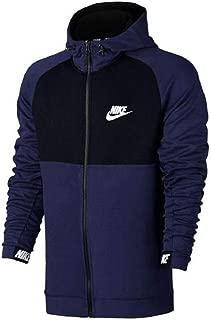 Mens Sportswear Advance 15 Hoodie 861742-430 Binary Blue/Black (X-Large)