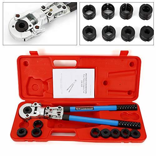 Handpresse Presszange YUNRUX V12-28mm TH16-32 mm Handpresszange + 9 x V/TH Kontur Rohrpresszange Pressbacken für Kupferrohr Verbundrohr