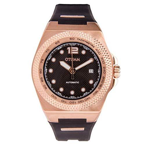 Otumm automatico AUA003 45 millimetri rosa oro nero silicone orologio unisex
