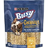 Purina Busy Rawhide Small/Medium Breed Dog Bones; Chewnola With Oats & Brown Rice - 10 ct. Pouch