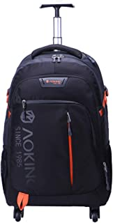 AOKING 20/22″Water Resistant Rolling Wheeled Backpack Laptop Compartment Bag