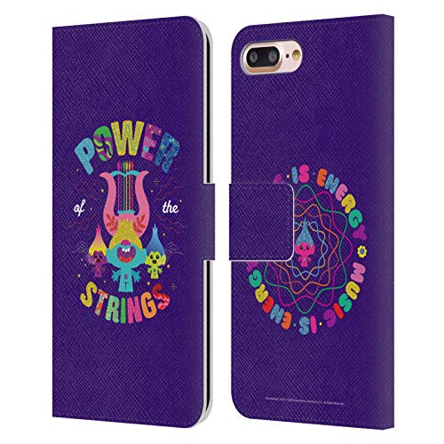 Head Case Designs Licenza Ufficiale Trolls World Tour Legami Potenti Arte Chiave Cover in Pelle a Portafoglio Compatibile con Apple iPhone 7 Plus/iPhone 8 Plus