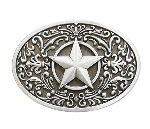 Schnalle123 Gürtelschnalle Western Star Stern Cowboy 3D Optik für Wechselgürtel Gürtel Schnalle Buckle Modell 246