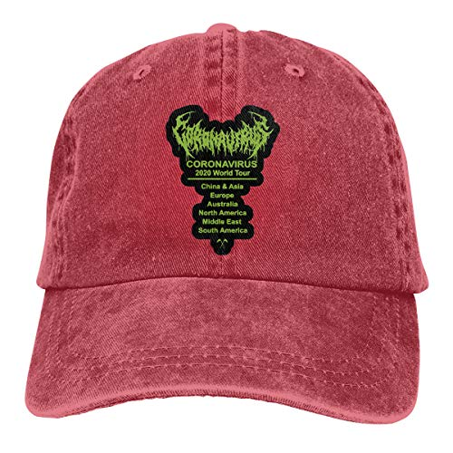 Corona-Virus World Tour 2020- Adjustable Baseball Caps Denim Hats Retro Cowboy Hat Cap for Men Women Sport Outdoor
