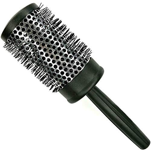 Comair 3020481 Brosse à cheveux professionnelle avec manche en métal et poils en nylon 53/70 mm