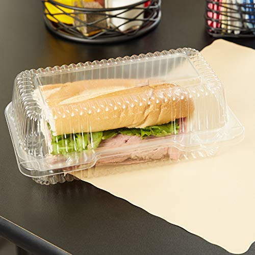 15-Plastic-Takeout-Clamshell-Food-Containers-9-X-5-X-3-Clear-Lid-Packaging-Boxes-Chocolate-Covered-Strawberry-Boxes-to-Go-Treat-Boxes-Bakery-Supplies-Cake-Cookie-Dessert-Salad-Containers