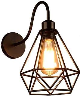 Aplique de Pared Vintage Lámpara de Pared Retro Lámparas de Pared Industrial para Dormitorio, desván, sala de estar, pasillo, salon, cafe, E27