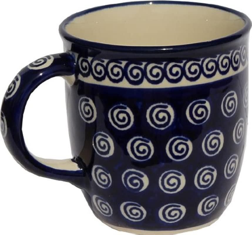 Polish Pottery Mug 12 Oz From Zaklady Ceramiczne Boleslawiec 1105 174a Classic Pattern Capacity 12 Oz